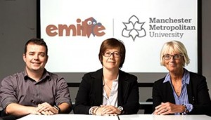 Developers of Emile educational games portal Glen Jones, founder and managing director of Cyber Coach, with Sarah Lister and Pauline Palmer, Senior Lecturers in Primary Education at Manchester Metropolitan University
